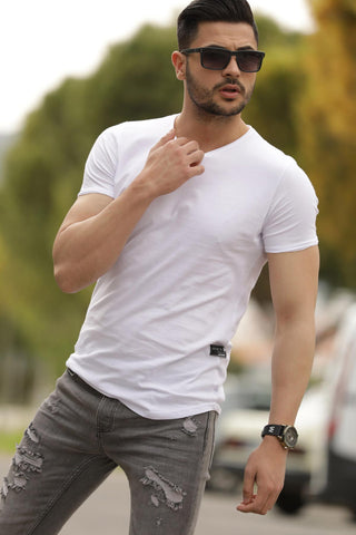 Image of Men's Basic White T-shirt