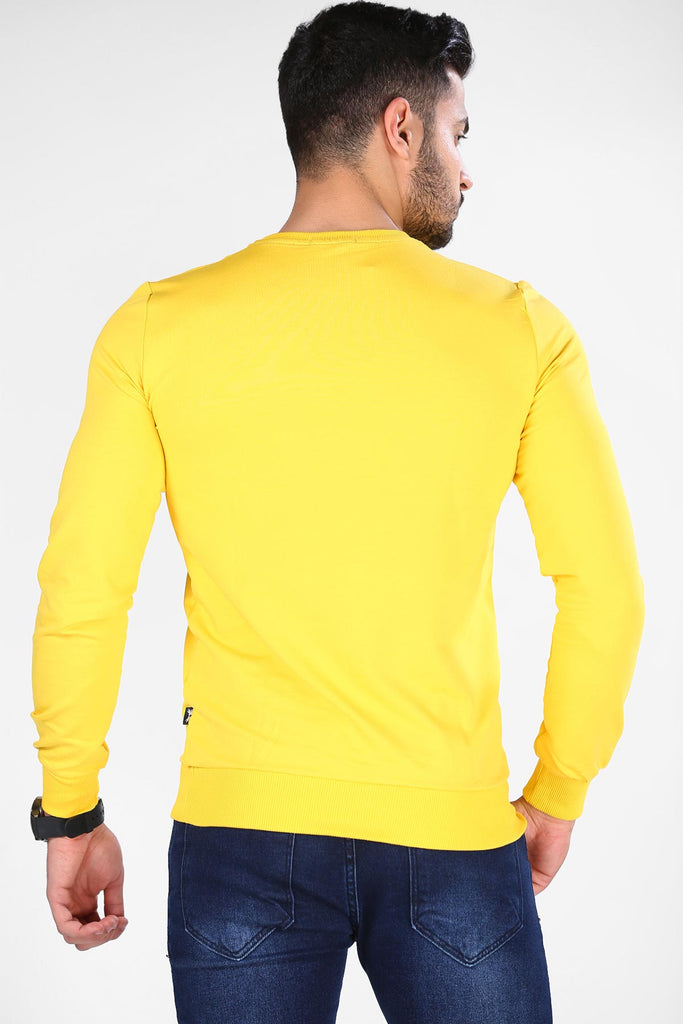 Unisex Basic Yellow Sweatshirt
