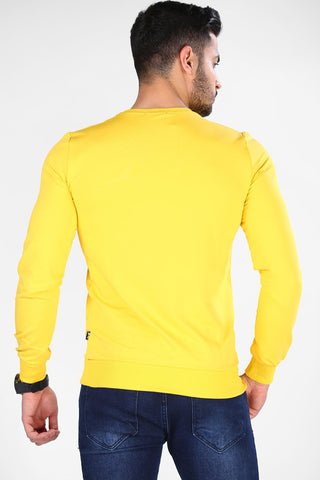 Image of Unisex Basic Yellow Sweatshirt