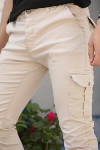 Image of Men's Elastic Ankles Stone Pants