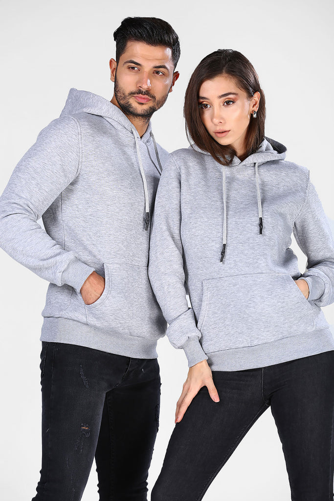 Men's Hooded Grey Sweatshirt