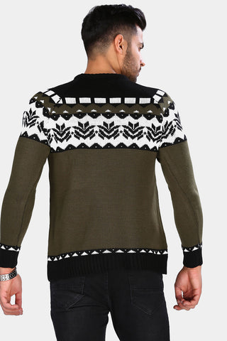Image of Men's Patterned Tricot Sweater