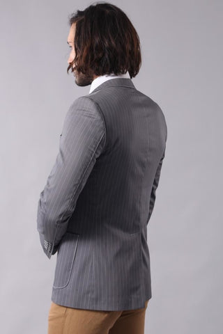 Image of Men's Button Striped Smoky Jacket