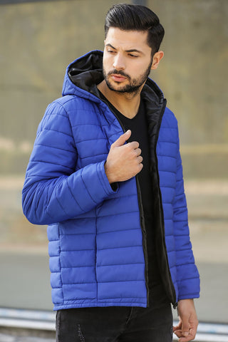 Men's Hooded Saxe Coat