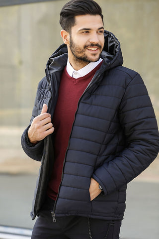 Men's Navy Blue Coat