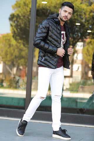 Men's Ripped White Pants