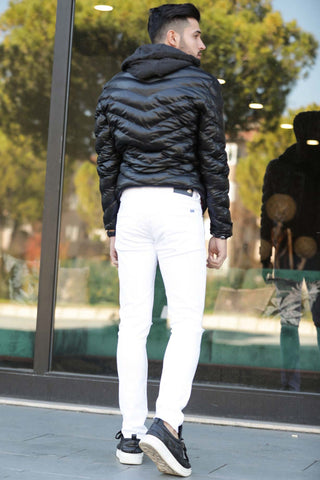 Image of Men's Ripped White Pants
