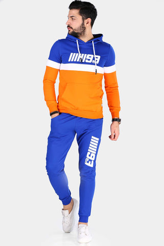 Image of Men's Hooded Saxe Sweat Suit