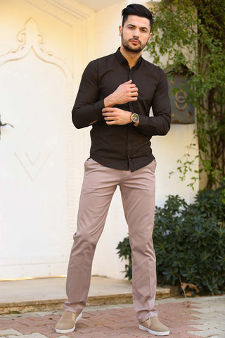 Image of Men's Beige Fabric Pants