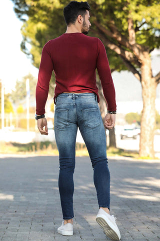 Men's Ripped Pocket Jeans