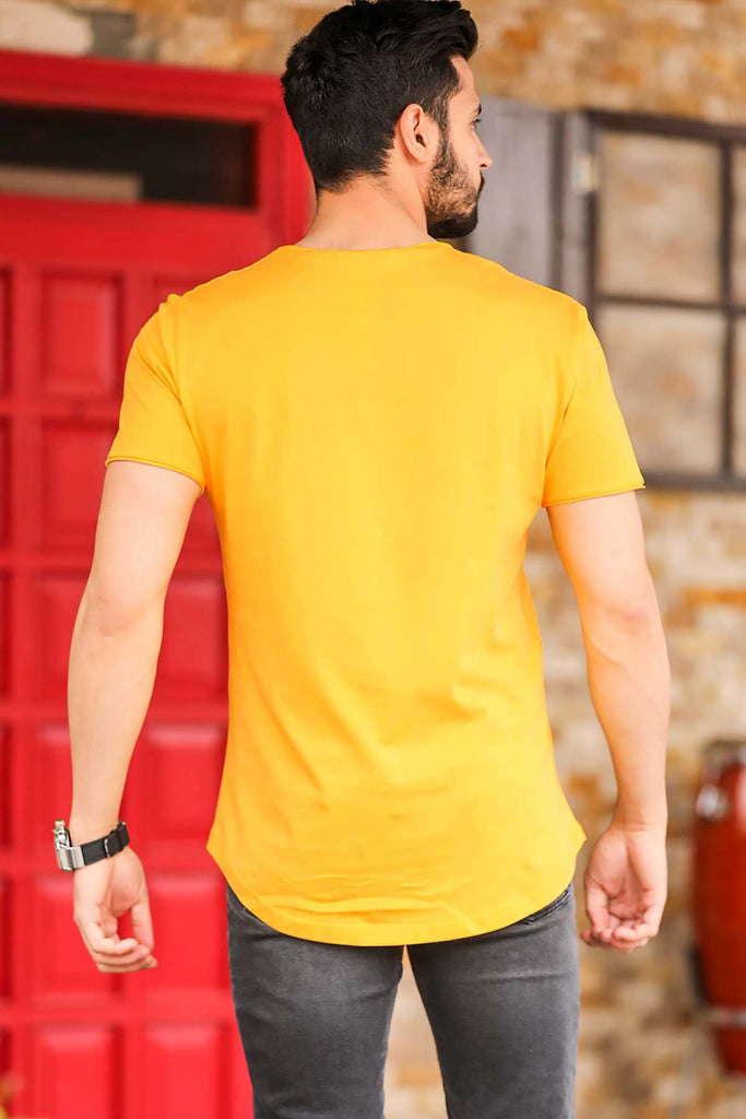 Men's Crew Neck Mustard T-shirt