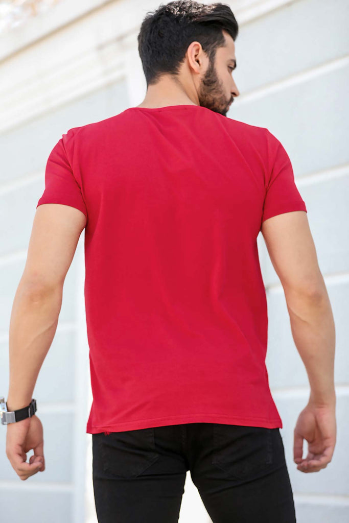 Men's Short Sleeves Red T-shirt