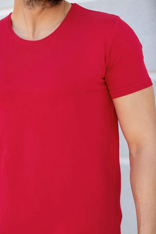 Image of Men's Short Sleeves Red T-shirt