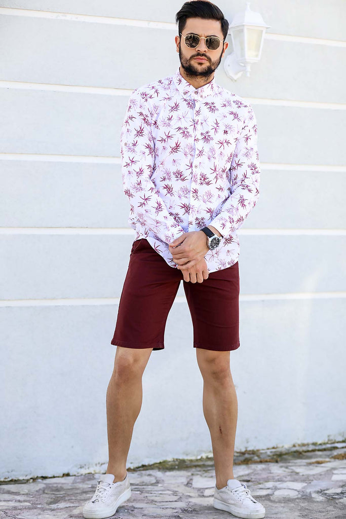 Men's Pocket Claret Red Shorts