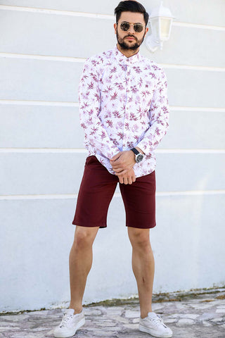 Image of Men's Pocket Claret Red Shorts