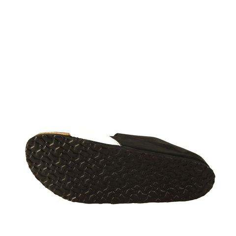 Image of Women's Black- White Cork Insole Slippers
