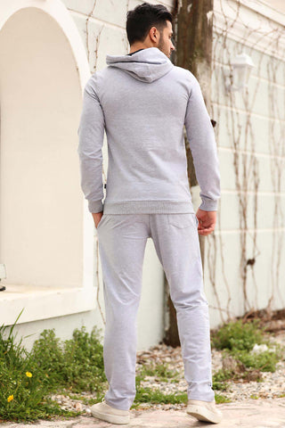 Image of Men's Hooded Grey Sweat Suit