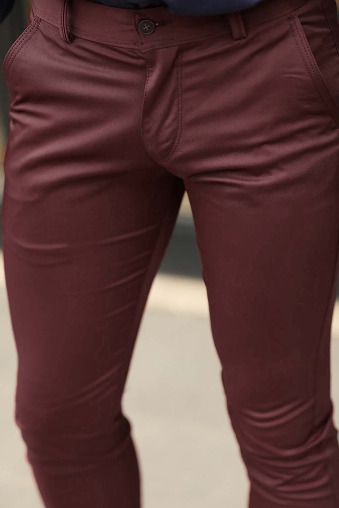 Men's Claret Red Pants
