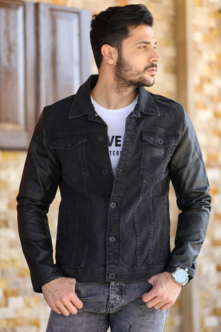 Image of Men's Black Denim Jacket
