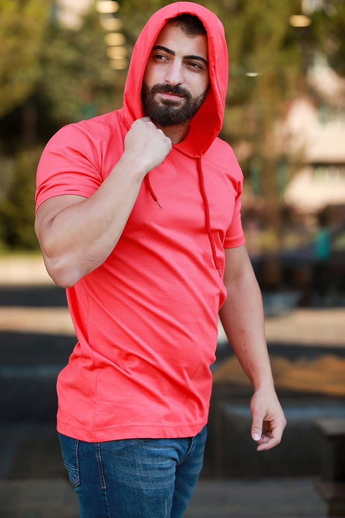 Men's Hooded Vermilion T-shirt