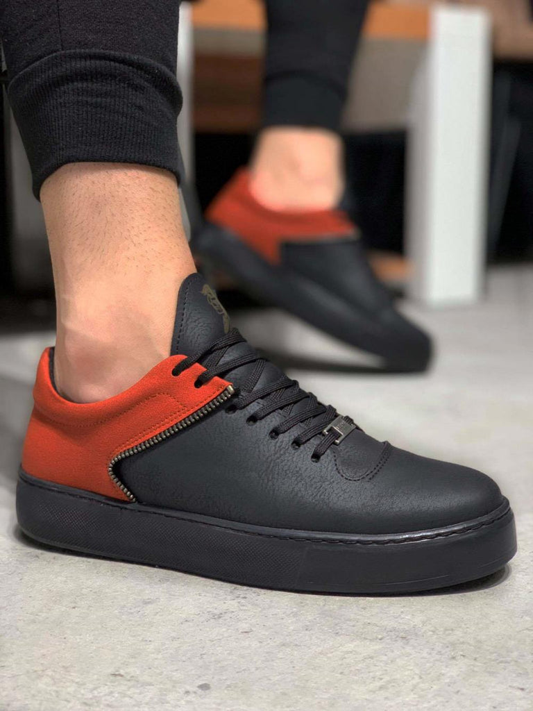 Men's Black - Orange Casual Shoes