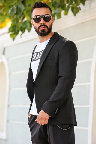 Image of Men's Black Blazer Jacket