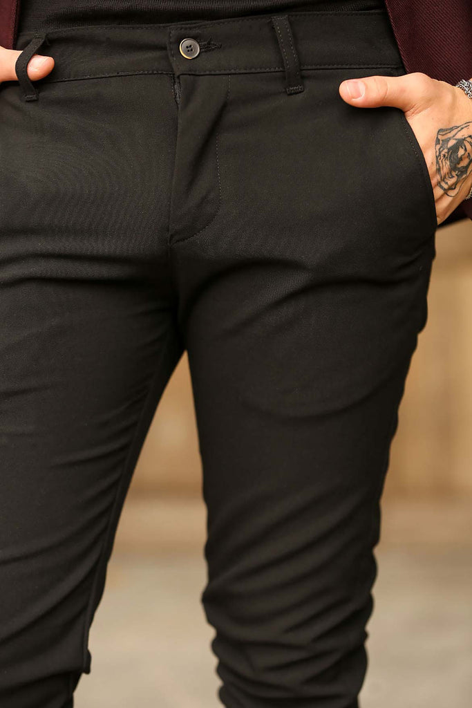 Men's Black Classic Pants