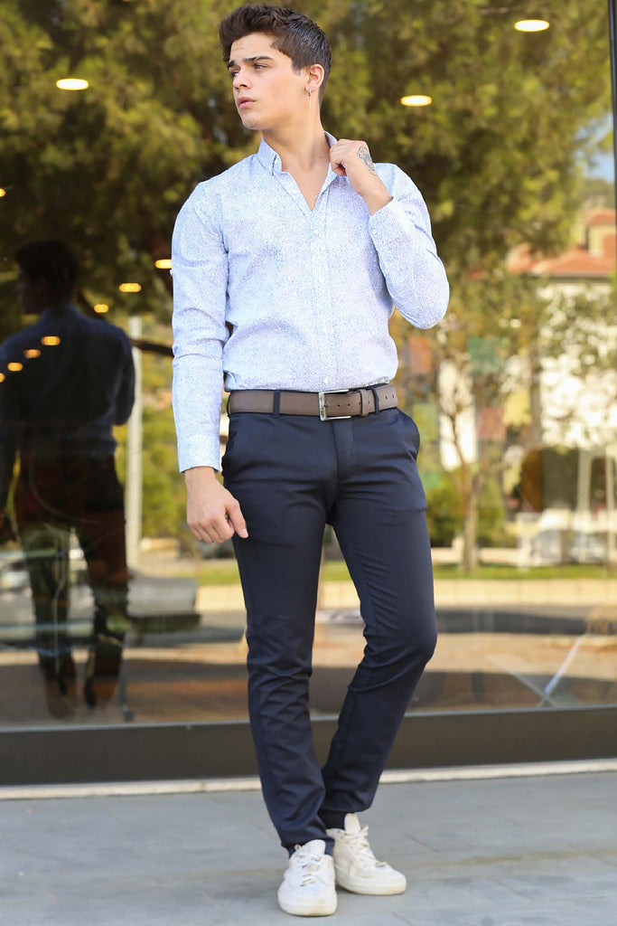 Men's Navy Blue Pants