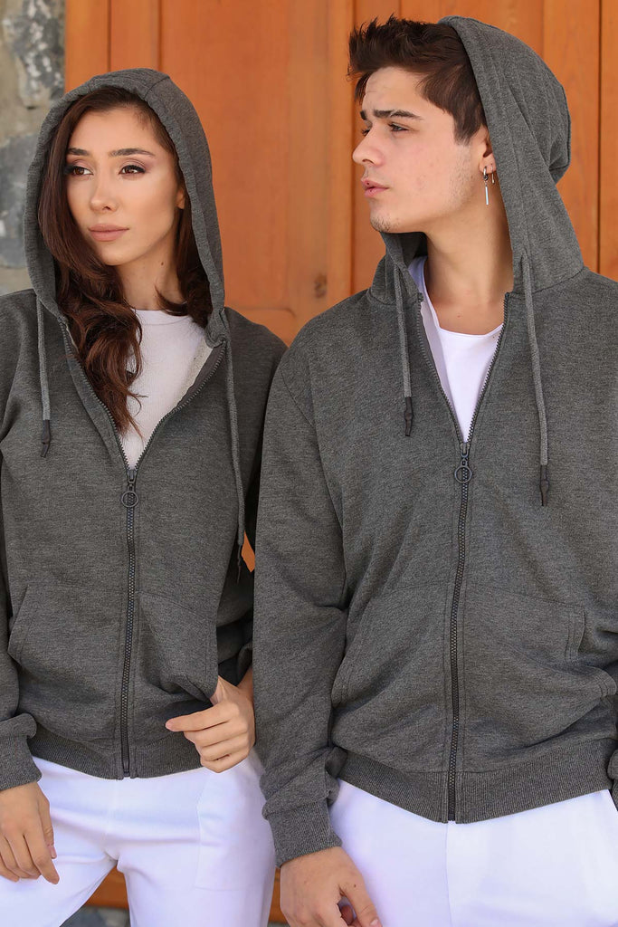 Men's Hooded Anthracite Sweatshirt