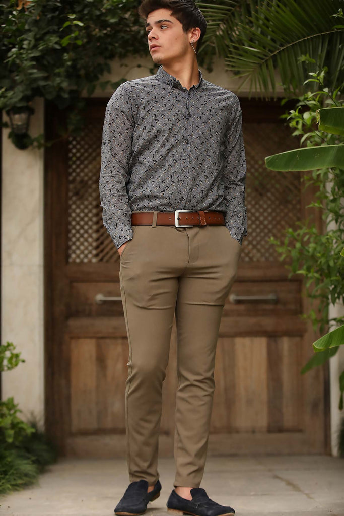 Men's Classic Beige Pants