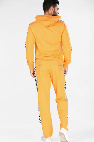 Image of Men's Printed Yellow Sweat Suit