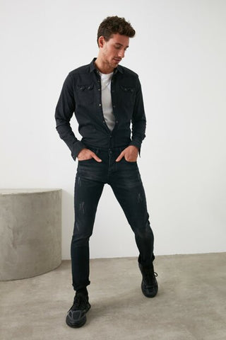 Image of Men's Black Skinny Jeans