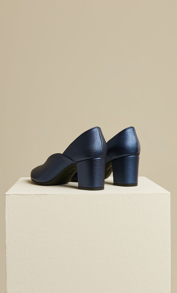 Women's Navy Blue Heeled Shoes