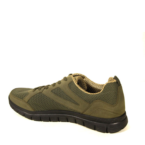 Image of Men's Lace-up Suede Detail Khaki Shoes