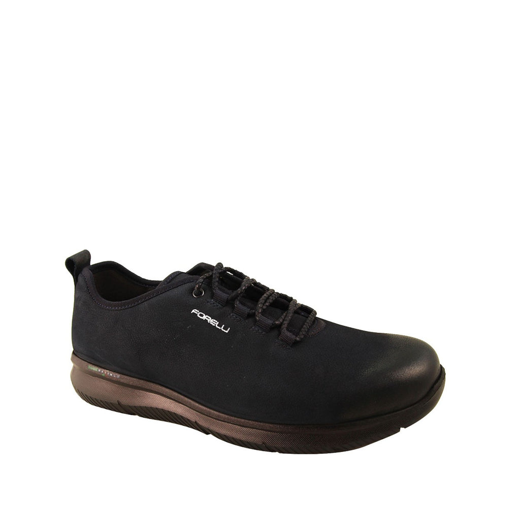 Men's Navy Blue Nubuck Comfort Shoes