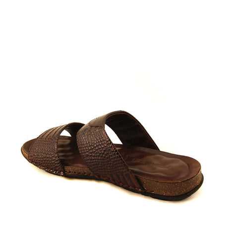 Men's Brown Leather Slippers