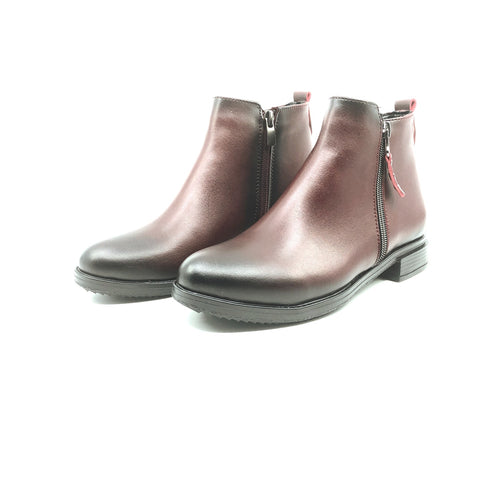 Image of Women's Zipped Claret Red Boots