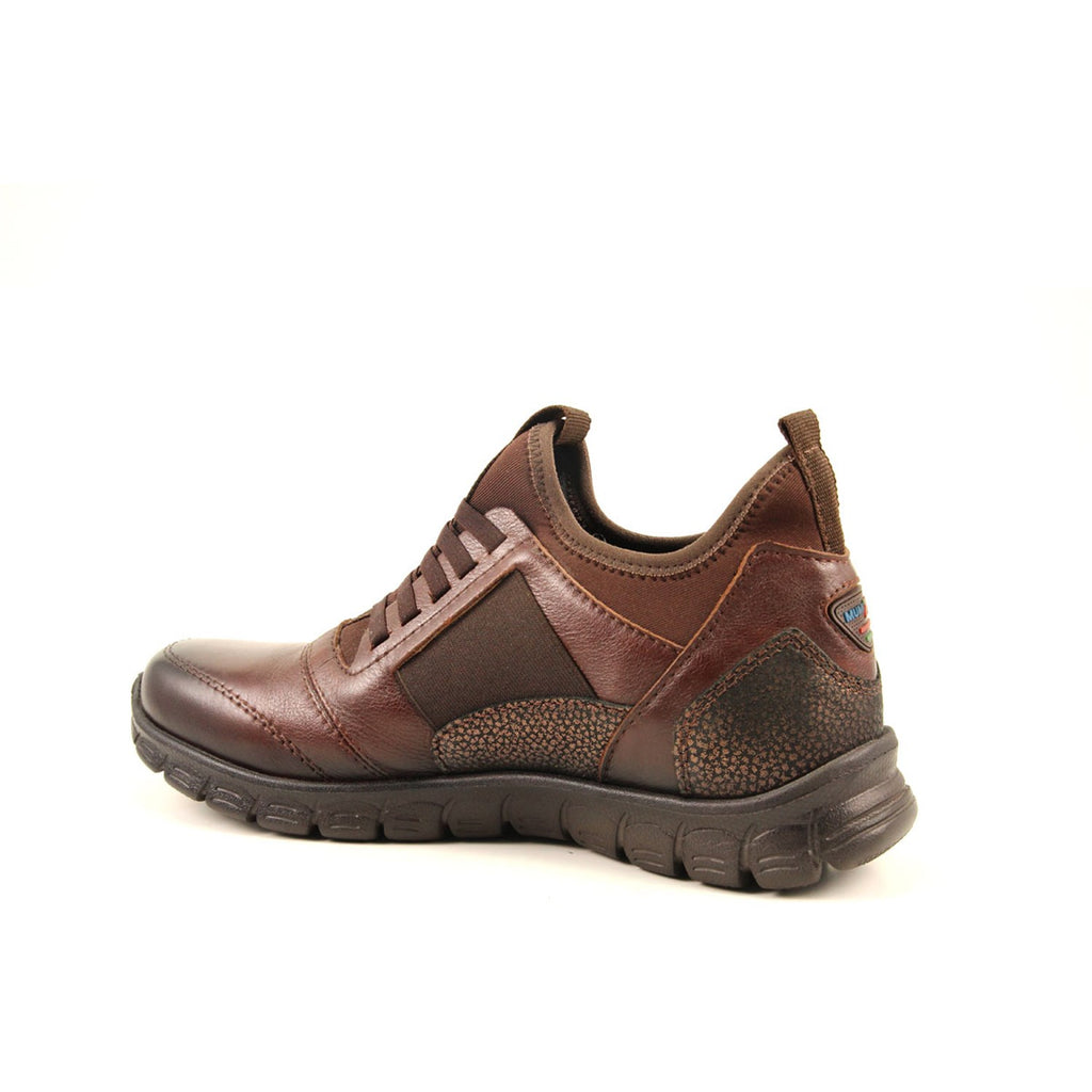 Women's Brown Leather Sport Shoes