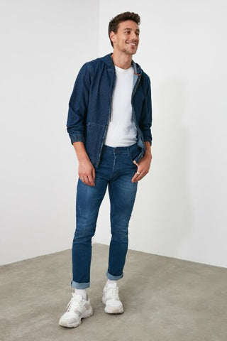 Image of Men's Blue Skinny Jeans