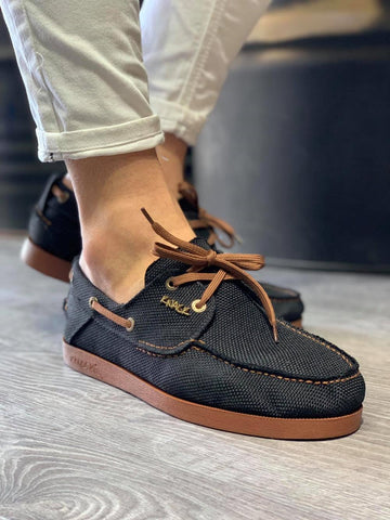 Image of Men's Black Linen Seasonal Shoes