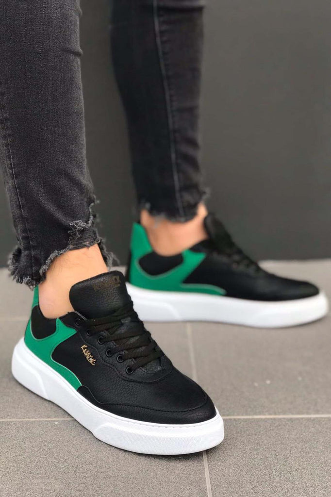 Men's Black - Green Casual Shoes