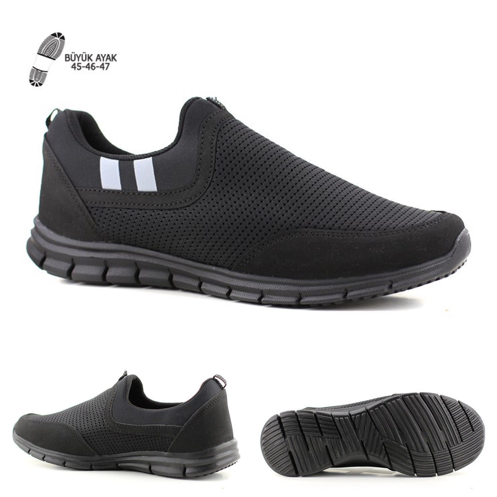 Men's Big Size Black Sport Shoes