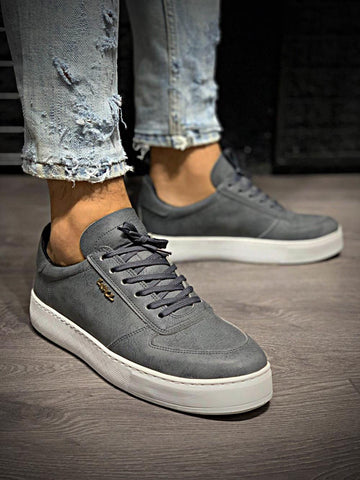 Image of Men's Grey Casual Shoes