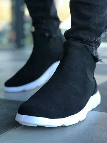 Image of Men's Black Suede Boots
