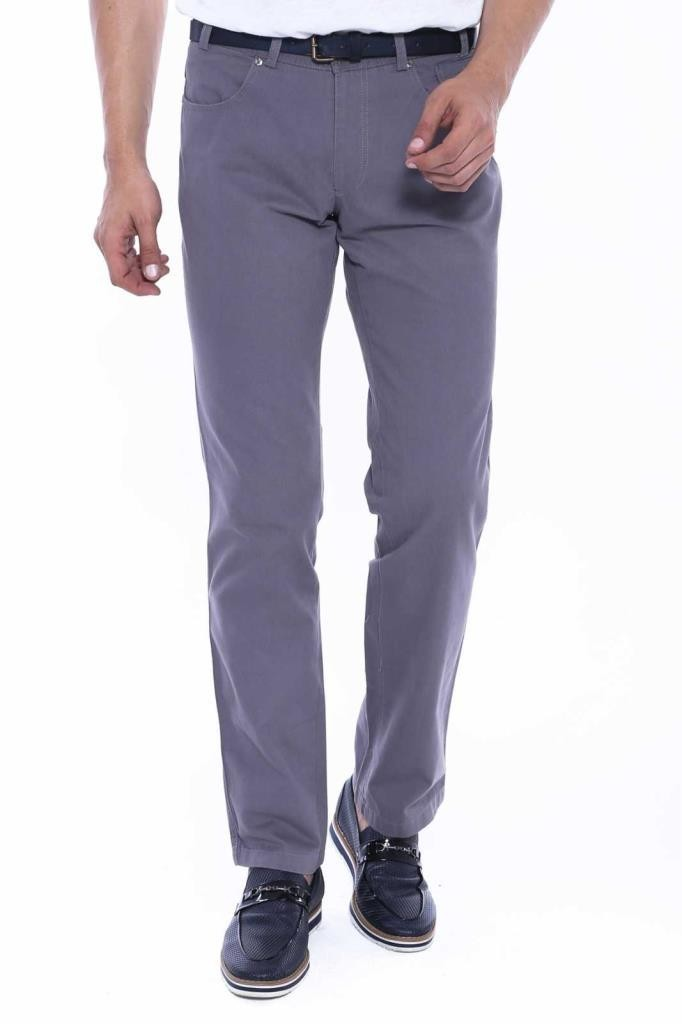 Men's Flap Pocket Grey Suede Pants
