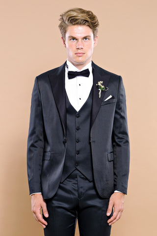 Image of Men's Removable Collar Formal Suit Set
