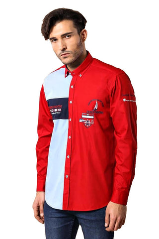 Image of Men's Crested Red Sport Shirt
