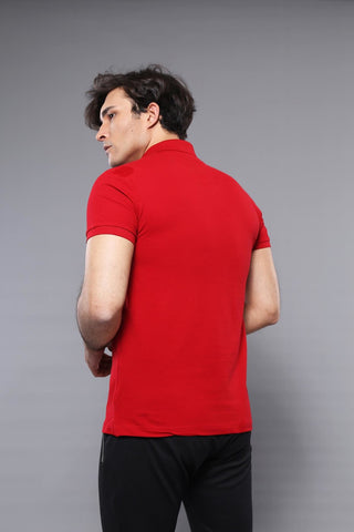 Image of Men's Plain Red Polo T-shirt
