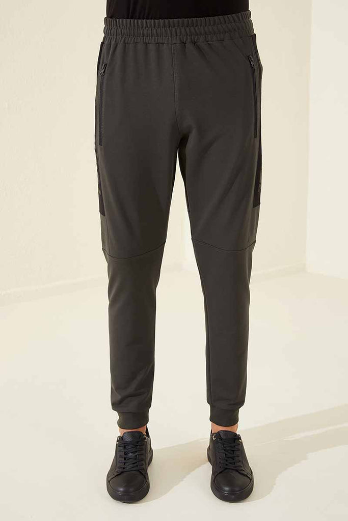 Men's Zipper Pocket Khaki Sport Pants