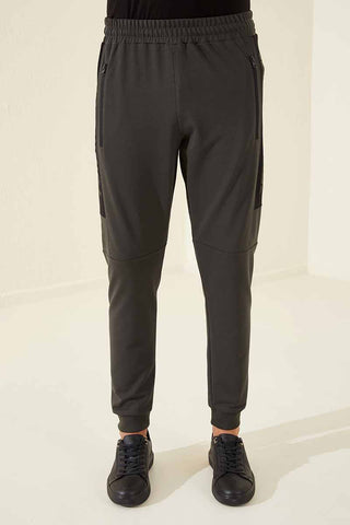 Image of Men's Zipper Pocket Khaki Sport Pants